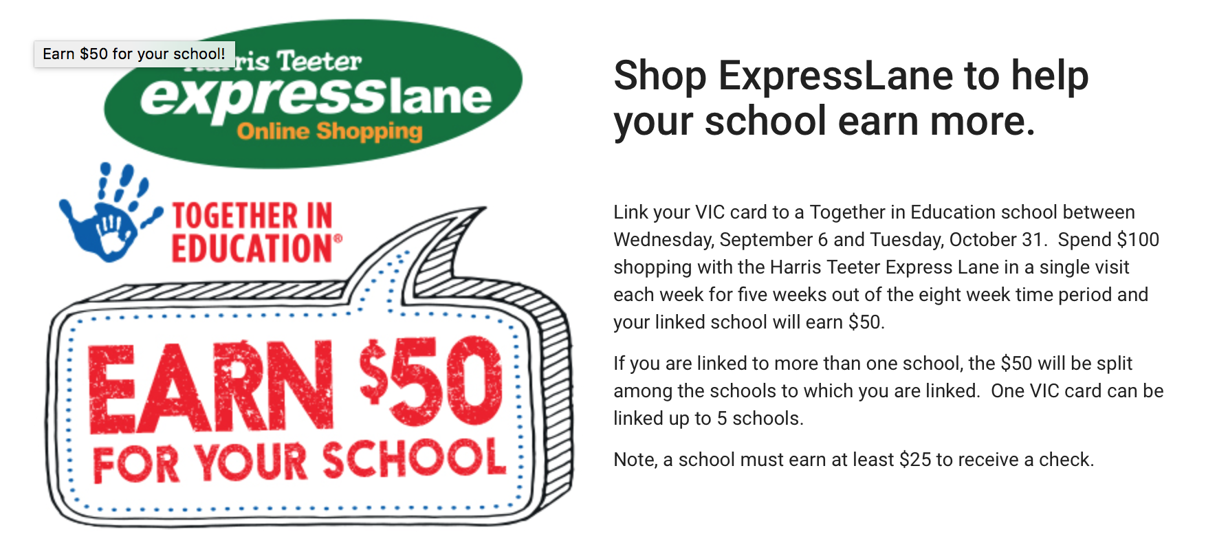 Harris Teeter Offers! Help get DRES extra money!